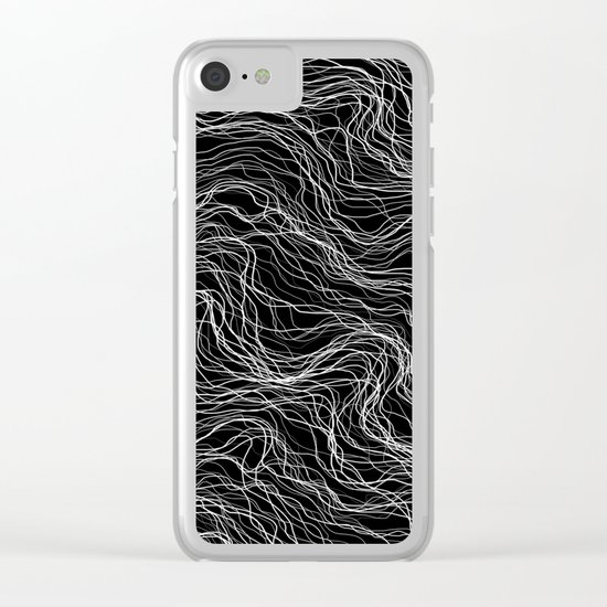 White Veins Clear iPhone Case