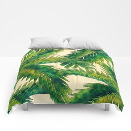 Palms #palm #palms #flower Comforters