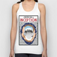 inception Tank Tops featuring Inception Minimalist Film Poster by Sean Breeding Arthouse