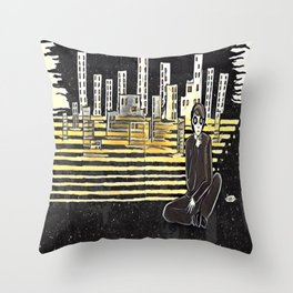Grown up chaos Throw Pillow