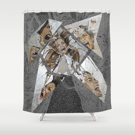 Happiness Shattered Shower Curtain