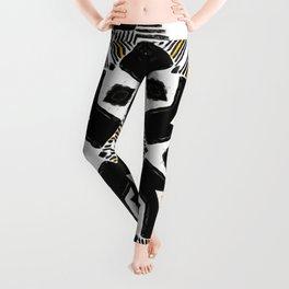 yellow ethnic pattern Leggings