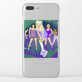 Space Girls Clear iPhone Case