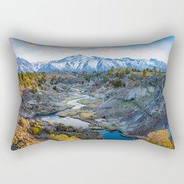 Eastern Sierra Nevada Journey, Hot Creek Rectangular Pillow