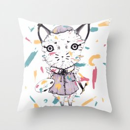 Adding Paint Throw Pillow
