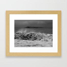 Windy Gray Day at Kachemak Bay Framed Art Print