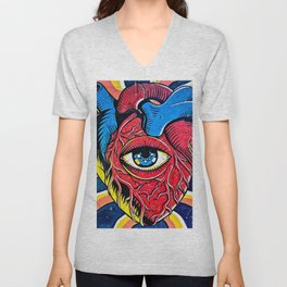Seeing the Hearts Unisex V-Neck
