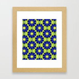 Blue Green vector abstract floral background Framed Art Print