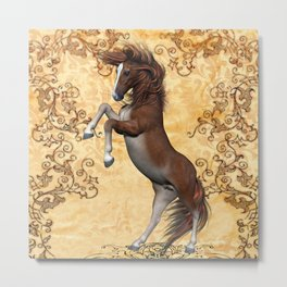 Awesome brown horse  Metal Print