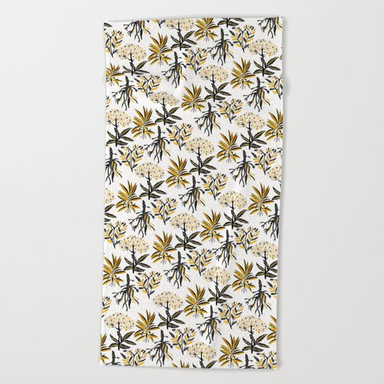 Herbal Apothecary Beach Towel