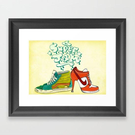 super jam Framed Art Print