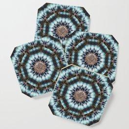 Om Shanti Fractal Geometry [ earthy aqua remix ] Coaster