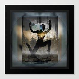 Yoga Forest Canvas Print