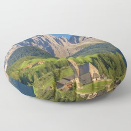 Italian Dolomites, South Tyrol Panoramic View Floor Pillow