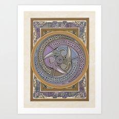 Triple Raven Art Print