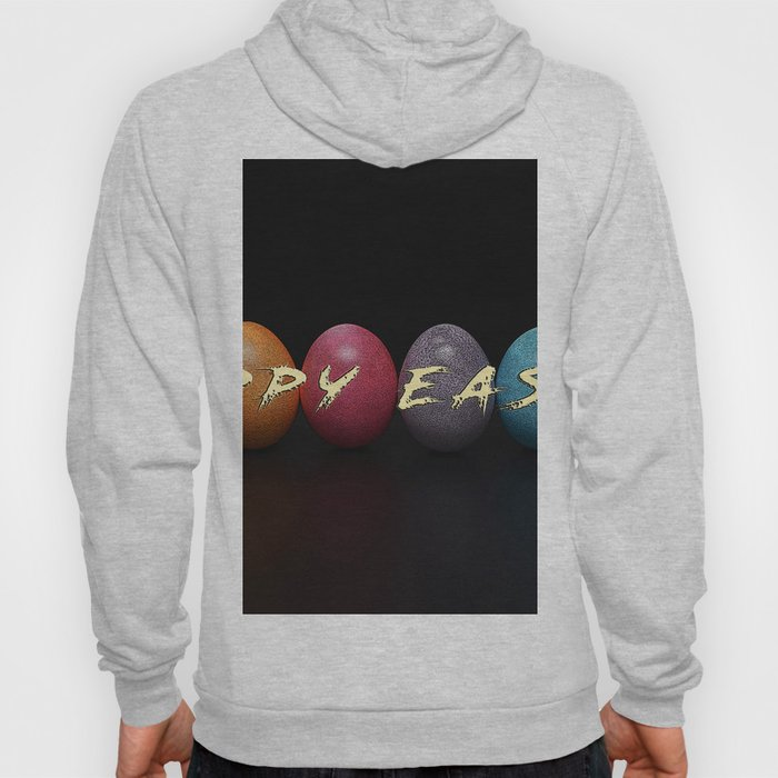 happy easter quote with easter eggs Hoody