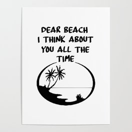 beach time funny saying Poster