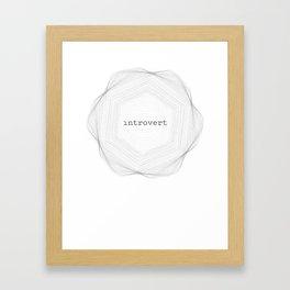 Introvert Spirograph #2 Framed Art Print