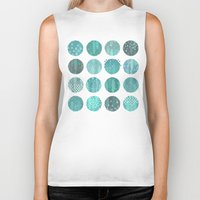 celestial Biker Tanks featuring CELESTIAL BODIES - MIDNIGHT by Daisy Beatrice