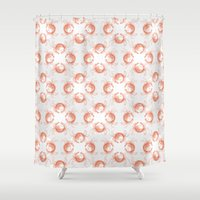 crab Shower Curtains featuring crab crab by Kirk and Wood
