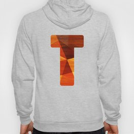 Letter T - Wood Initial  Hoody