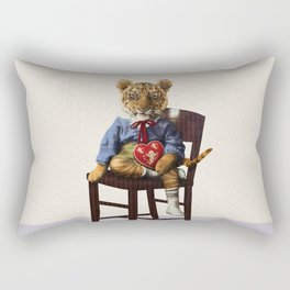 Tiny Tiger Valentine Rectangular Pillow