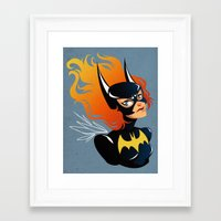 batgirl Framed Art Prints featuring Batgirl by Станислава Коробкова
