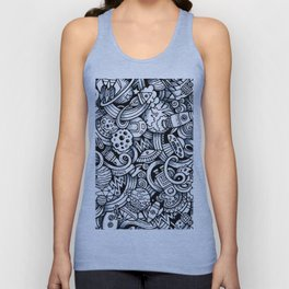 Space Doodles Unisex Tank Top