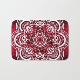 Mandala Red Colorburst Bath Mat