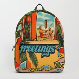 Greetings From Florida Backpack