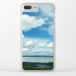 Coastline Clouds Clear iPhone Case