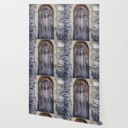 Old French Door Wallpaper