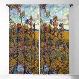 Vincent van Gogh Sunset at Montmajour Blackout Curtain