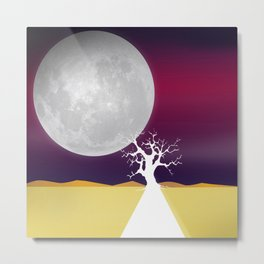 Say Hello to The Moon Metal Print