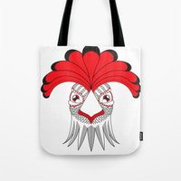 cock Tote Bags featuring Cock by HandeAylan