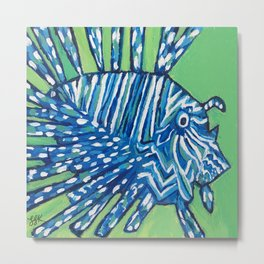 Lion Fish 2, a pretty predator & invasive species Metal Print