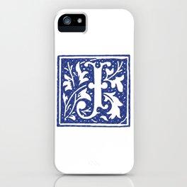 FLORAL LETTER TYPE - LETTER J iPhone Case