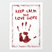 gore Art Prints featuring Love Gore by Victor Rodriguez