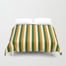 Team Colors 4... orange green white Duvet Cover