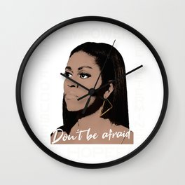 Michelle Obama You are Beautiful Wall Clock