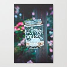 SPRING IN A JAR Canvas Print