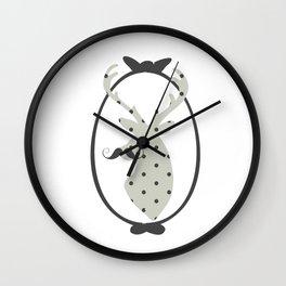 Frame, Deer, Vintage, Modern, Home Decor, Mustache, Polka dot Wall Clock