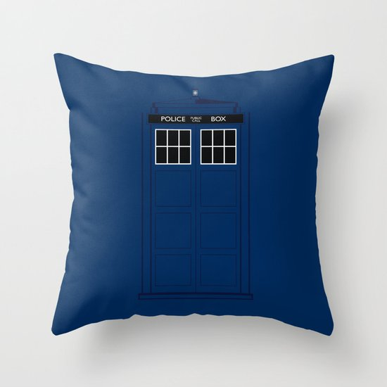 Doctor Who - The Doctor is in.....  Throw Pillow