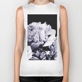 Peony Flower Bouquet Black and White #decor #society6 #buyart Biker Tank