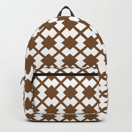 Chocolate Brown:  Pattern No. 1 Backpack