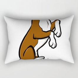 Funny boxer cartoon dog copy Rectangular Pillow