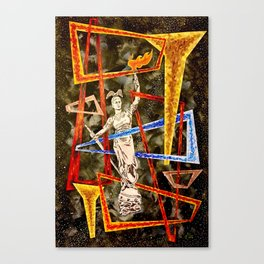 Monumental geometric Canvas Print