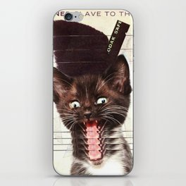 Slave To Kitty iPhone Skin