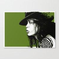 erykah badu Canvas Prints featuring Erykah Badu by ChrisGreavesCreative
