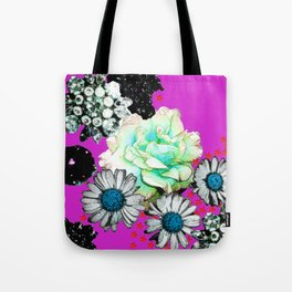 Abstract Jewels & Flowers Tote Bag